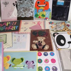 Other - Assorted Greeting & Note Card Lot Of 15 3D & 2D